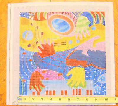 Hand Painted Needlepoint Canvas EBS 886-A Abstract 18 Count