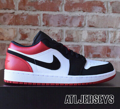 cheap for discount 2af50 81dd3 Nike Air Jordan 1 Low Black Toe White Black Gym Red 553558-116 Size