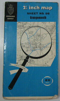 1965 Old Vintage OS Ordnance Survey 1:25000 First Series Map NS 98 Grangemouth