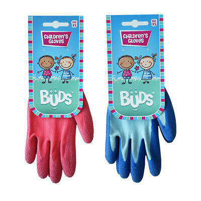 Buds Kids Gardening Gloves. Children's Palm Coated Gloves.  XXS Age 3 - 4years