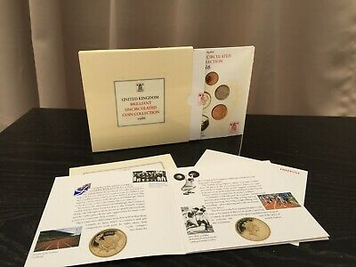 Royal Mint Brilliant Uncirculated Coin Collection 1986 Boxed