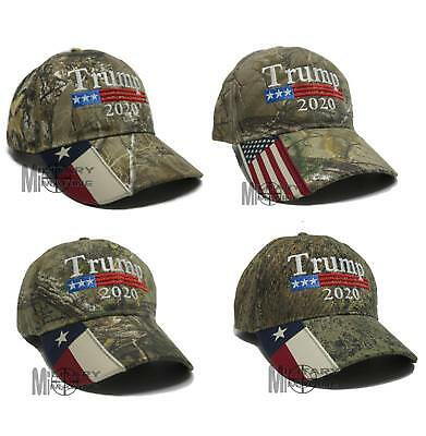 Donald Trump Cap Keep America Great President 2020 Real Tree US Mossy Oak Texas