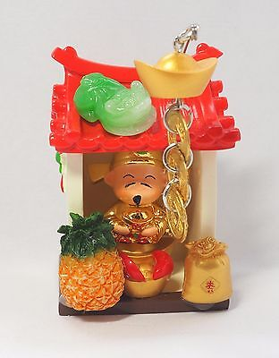 Chinese Caishen God of Wealth Fortune Luck Feng Shui Frog Coins Ingot Temple