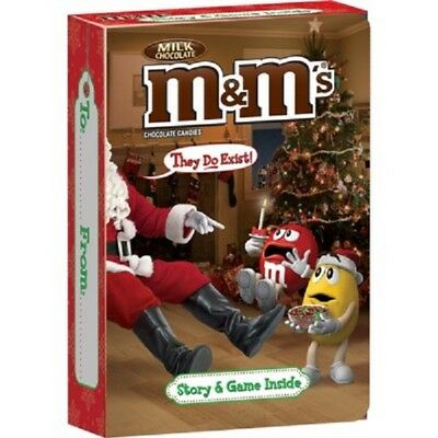 """RARE M /& M/'s Story and Game Box with 8 Packs of M/&Ms Inside /""""They do Exist/"""""""
