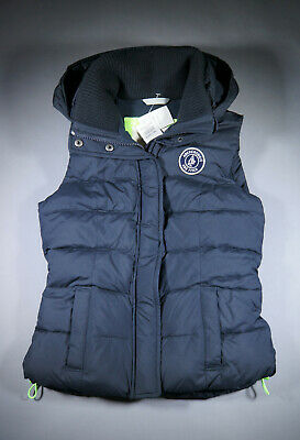 Abercrombie & Fitch Black Down Hoodie Vest Girls Ladies XS Brand New with Tag