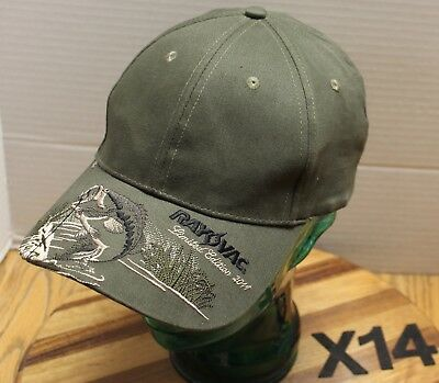 25136ee4e3b393 2011 Ray-O-Vac Limited Edition Bass Fishing Hat Green Embroidered  Adjustable X14