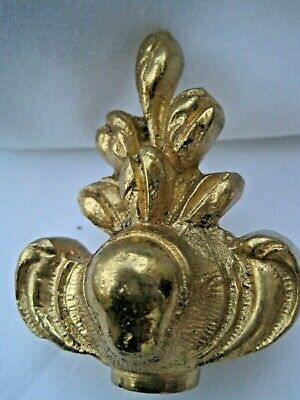 vintage solid brass knob/ clock finial 80mm