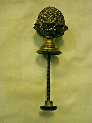 vintage solid brass knob/clock part/finial - 8omm