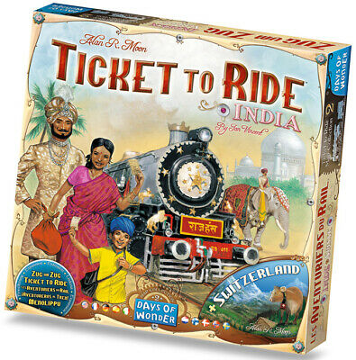 Ticket To Ride Expansion: India + Switzerland Map Collection ASTERION
