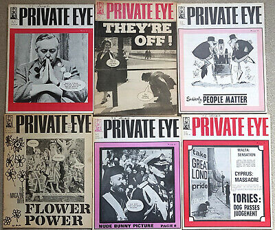 6 magazines Private Eye collection 1963/64/67/80
