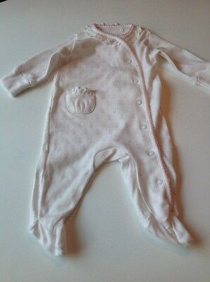 """Baby Girl's NEXT First Wardrobe """"Bunnies"""" Playsuit Age Upto 1 month (10 lbs)"""