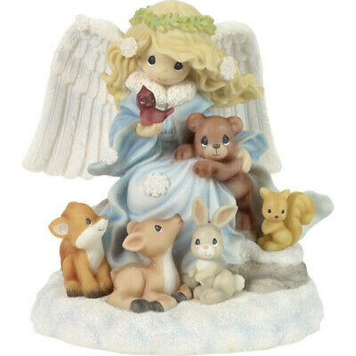 Precious Moments Angel & Animals Musical Figurine Figura Musical Animales Bosque