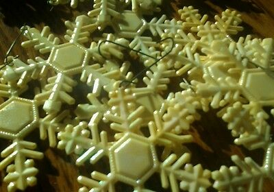 Vintage Snowflakes Christmas Ornaments Set Of 12 Pearl Finish