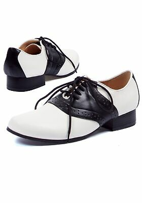 e6a4f8b23c3c WOMEN S BLACK AND White 50 s Style Saddle Shoes Wide Width ! All ...