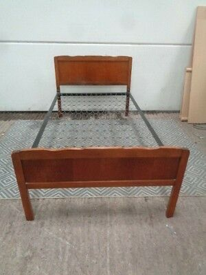 antique vintage 3 FOOT 6 inch DOUBLE  bed frame