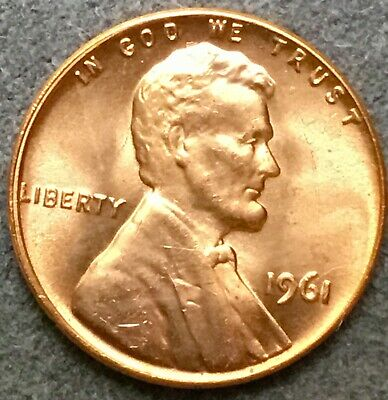 *1961 p* Uncirculated BU Red Lincoln Memorial Cent *Free Ship*