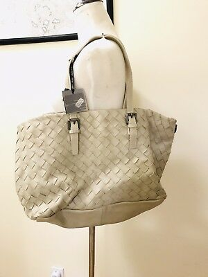 NWT Brighton Your Bag BRAIDY  Woven Strap LEMONDROP BLUE Handbag Purse MSRP$50