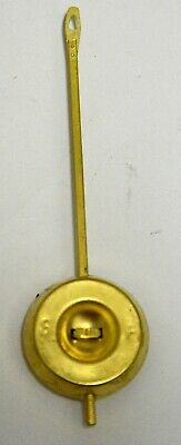 "Ansonia Style Brass Center-Wheel Pendulum Bob, 5.25""  Long Rod"