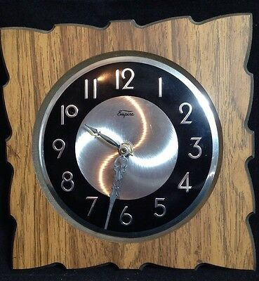 FauxWood Square Quartz Wall Clock By Empire Battery Operated