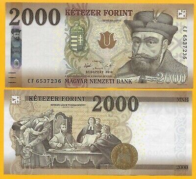 Hungary 2000 Forint p-204 2016 UNC Banknote