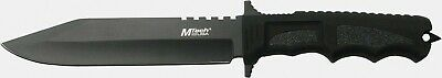 Mtech MT086 Tactical Black Straight Fixed Blade Combat Fighter Knife + Sheath