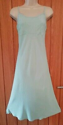 Pretty Ladies Long Summer Dress Size 12 Light Green Holidays BHS VGC