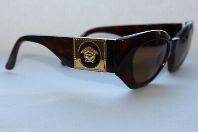 6aae893ca3 Vintage luxury  90s Gianni Versace 420  c Medusa Tortoise Sunglasses with  case