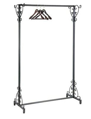 Victorian Trading Co Black Cast Iron Versailles Baroque Scroll Clothing Rack