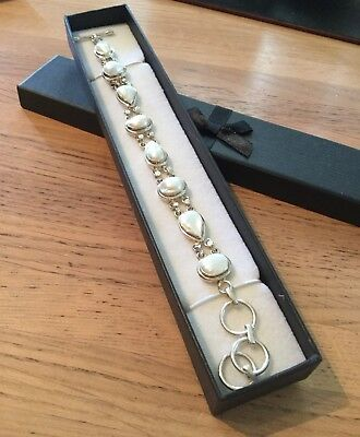 Genuine 92.5 Solid Silver /& White Mother of Pearl Whales Tail 20mm