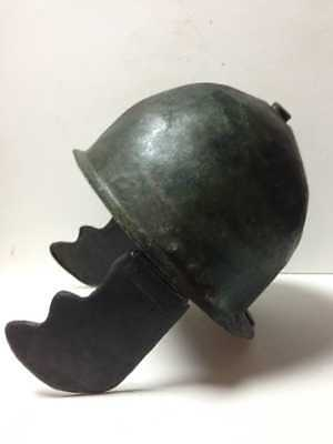 The Roman helmet Montefortino.   5th century. Very rare! Roman Empire.