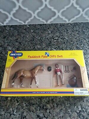 Breyer Western Pleasure Zebra Dun Quarter Horse Paddock Pal Gift Set #1621 NIB