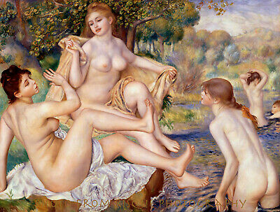 "The Large Bathers 8.5x11"" Photo Print Pierre Auguste Renoir Nude Women Bathing"