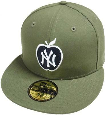 New Era New York Yankees Big Apple Olive Cap 59fifty Fitted Cap Limited Edition