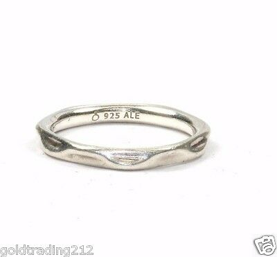 Authentic Pandora Ale Curved Flow Band /Ring 925 Sterling Rg 566