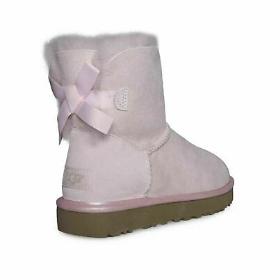 52a534ec6cc UGG MINI BAILEY Bow Ii Metallic Driftwood Suede Ankle Boots Size Us ...