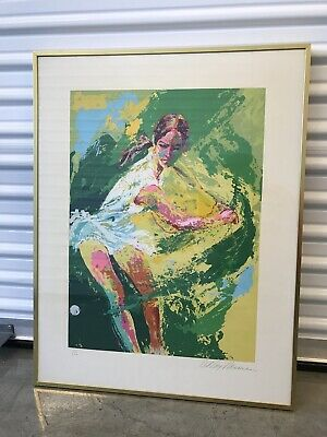 "Leroy Neiman ""Backhand"" Chris Evert Hand Signed And Numbered Serigraph"