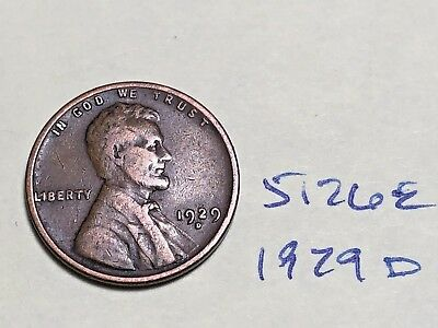 1929 D Lincoln Cent Very Nice Premium Collection 5126E Wheat Penny
