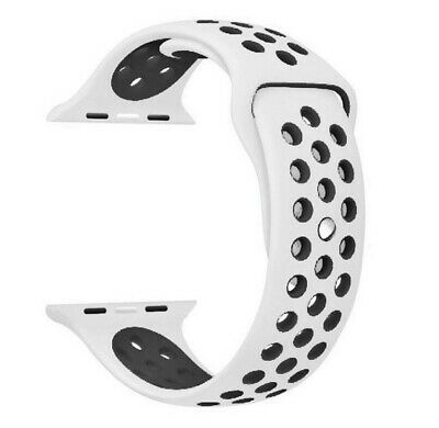 Recambio para Apple Watch 38mm Series 1 2 3 Correa reloj silicona blanco / negro