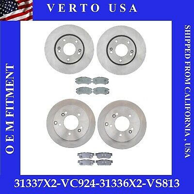 C0512 FIT 2005 2006 2007 2008 2009 Hyundai Tucson 4WD Brake Rotors Pads F+R