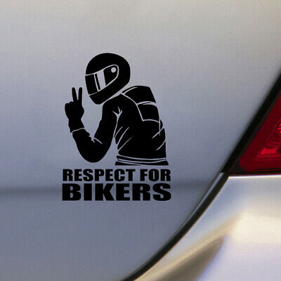 1x Universal 7.4inch Respect for Bikers Sticker Car Motorcycle Waterproof Decal