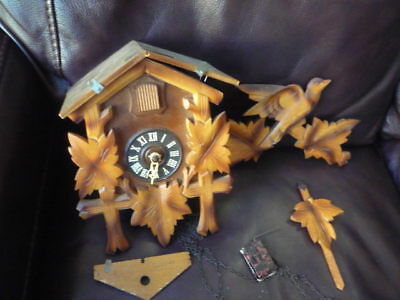 Vintage German Cuckoo Clock, For Repairs Or Parts