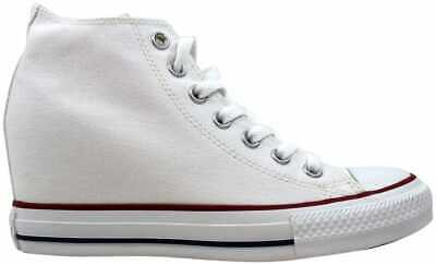 b4237f2f9a8eb4 Converse Chuck Taylor Lux Mid All Star White Red-Blue 547200F Women s Size  6.5