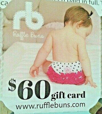 $60.00 Gift Card - Ruffle Buns - Quality Infant/Toddler Bloomers & Diaper Covers