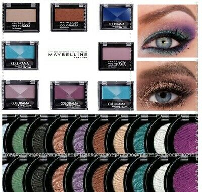 Maybelline Eyeshadow  nude purple copper silver colorshow color accents