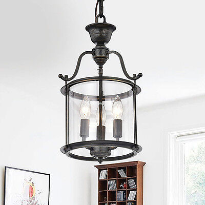 Hanging Lantern Chandelier Farmhouse Candle Lamp Rustic Kitchen Island Light