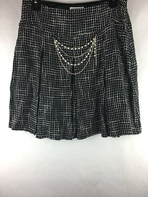 8ee576b463 Allison Taylor Women's Size 4 Skirt Vintage Pearls Chains Pleated Knee  Length