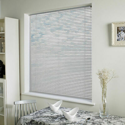 Easy Fit White Pvc Venetian Window Blinds Long & Standard Drops Bedroom Kitchen