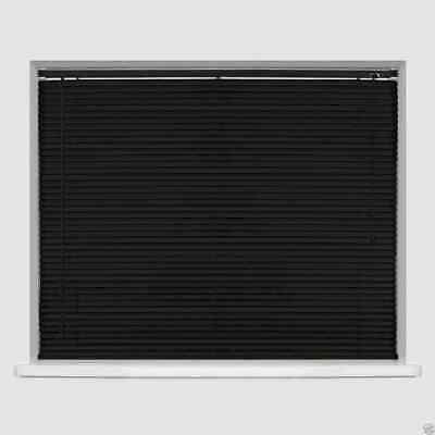 Black Easy Fit Pvc Venetian Window Blinds Long  Standard Drops Home Kitchen New