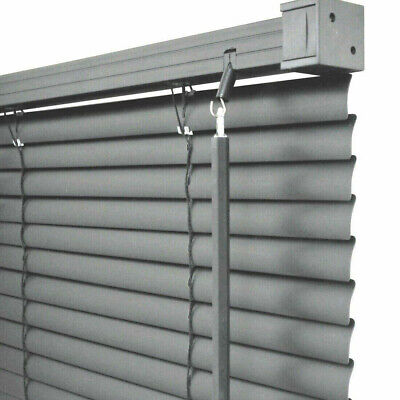 Easy Fit Pvc Grey Venetian Window Blinds Long & Standard Drops Bedroom Kitchen