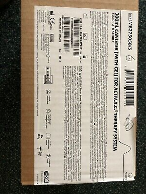 New K.C.I. V.A.C. WOUND THERAPY. SYSTEM   300ml canisters (with gel)lot of 10